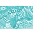 abstract background blue waves pattern vector image