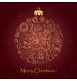 Beautiful christmas ball for Merry Christmas vector image