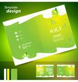 brochure folder juice fruit drops liquid fruit vector image