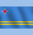 flag of aruba - vector image