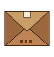 hand holding a envelope icon vector image