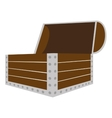 trunk wooden open isolated icon vector image