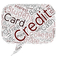 College Student Credit Cards text background vector image