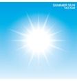 Summer sun background  Sky vector image