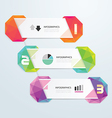 Geometric colorful Modern Design vector image