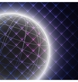Abstract light globe on black background vector image