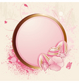 floral easter egg and grunge vector image vector image