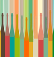 colorful bottle on background vector image