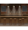 Bar Cafe Beer Cafeteria Counter Desk Interior vector image