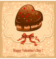 beautiful postcard on valentines day vector image vector image