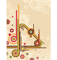 abstract retro background vector image vector image