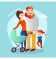 Family Happy parents with vector image