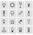 line light icon set vector image