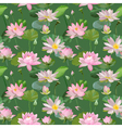 Vintage Waterlily Flowers Seamless Pattern vector image vector image