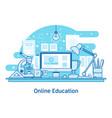 e-learning education online line design concept vector image