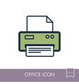 fax outline icon office sign vector image