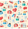 Medical seamless pattern background vector image