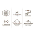 Set of Barber Shop Elements and Shave Shop Icons vector image