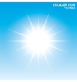 Summer sun background Sky vector image