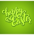 Title Happy Easter Hand drawn lettering vector image