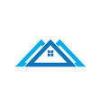 triangle house logo vector image