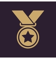 The medal icon Prize symbol Flat vector image