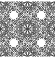 Black Lace seamless pattern with flowers on white vector image