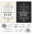Mothers and Fathers Day frames vector image