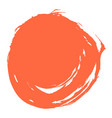 red brush stroke circle shape vector image