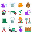 spring gardening icons set vector image