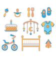 baby boy icon vector image vector image