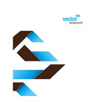 Abstract template with stripes and place for your vector image vector image