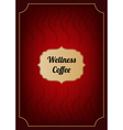 Red coffee menu cover vector image vector image