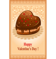 beautiful postcard on valentines day vector image