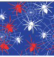 Seamless spider background vector image vector image