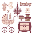 Elegant baby shower vector image