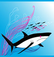 a large shark vector image