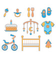 baby boy icon vector image