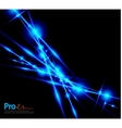 Blue lightning abstract background vector image