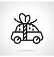 Car for free icon black line design vector image