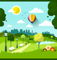 city park nature landscape green natural scene vector image
