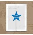 Grunge tattered folded poster template vector image