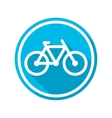 icon blue bicycle vector image