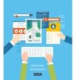 Modern flat design application development concept vector image