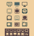 retro tv receiver vector image