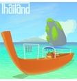 Thailand beach concept cartoon style vector image