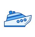 watercraft line icon vector image
