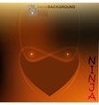 ninja light face vector image