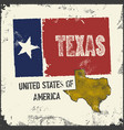 label with map of texas vector image