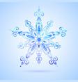 watercolor blue snowflake vector image